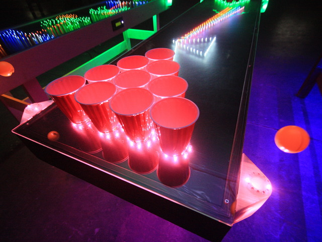Penumbra interactive led beer pong table by penumbra - Interactive led beer pong table ...