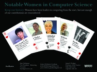 Notable Women in Computing Card Deck