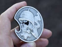 Solid Brass Motorcycle Creed Challenge Coin / Bottle Opener!