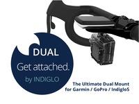 INDIGLO dual handlebar mount for gopro/garmin/indiglo5