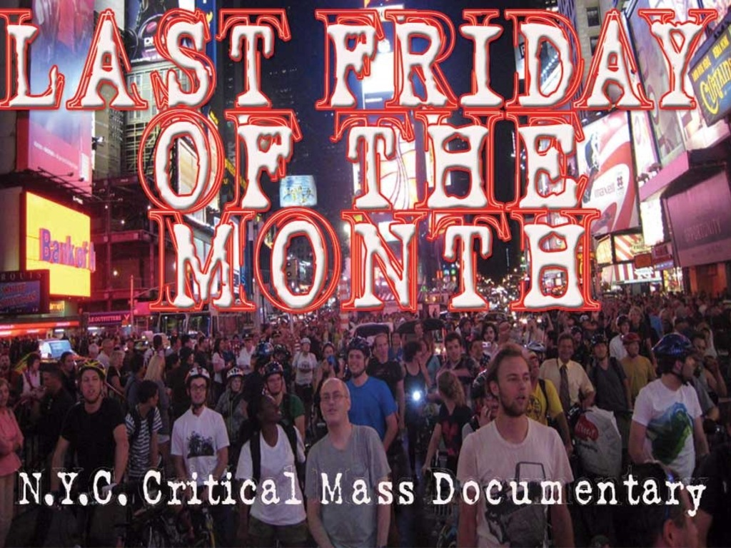 NYC Critical Mass Documentary's video poster