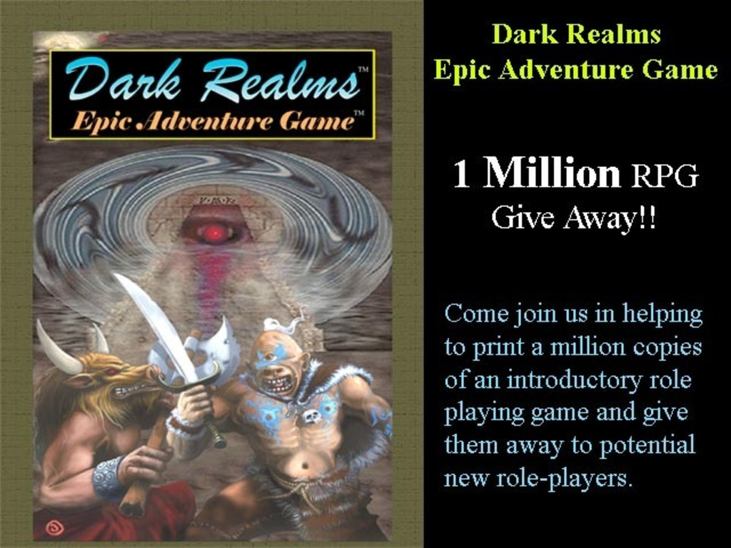 Dark Realms RPG 1 Million Book Give-Away (Canceled)'s video poster