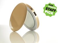 Pearl™: Compact Mirror + USB Rechargeable Battery Pack