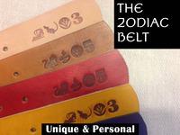 ZODIAC Leather Belt - Handmade with Personalized Branding