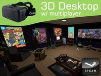3D VR Desktop & Multiplayer Web w/ Oculus: Anarchy Arcade