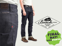 British made, high end jeans, half the price of retail