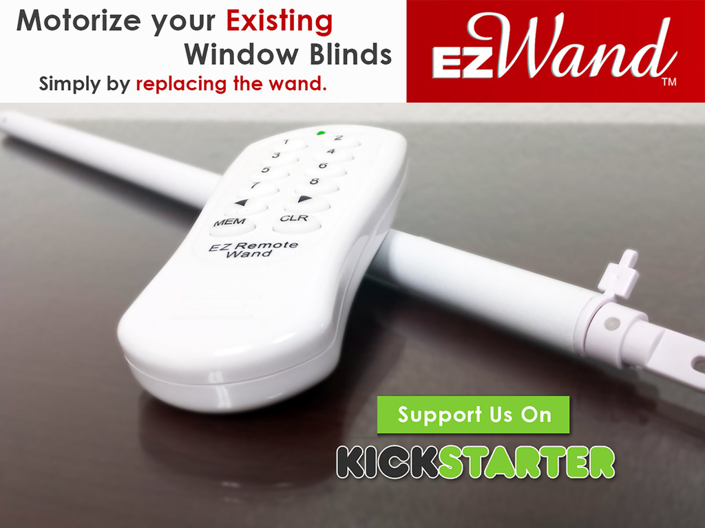 Ez Wand Easy Wand Motorize Your Existing Window Blinds