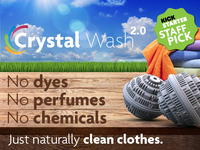 Crystal Wash 2.0: Clean Laundry with No Detergents