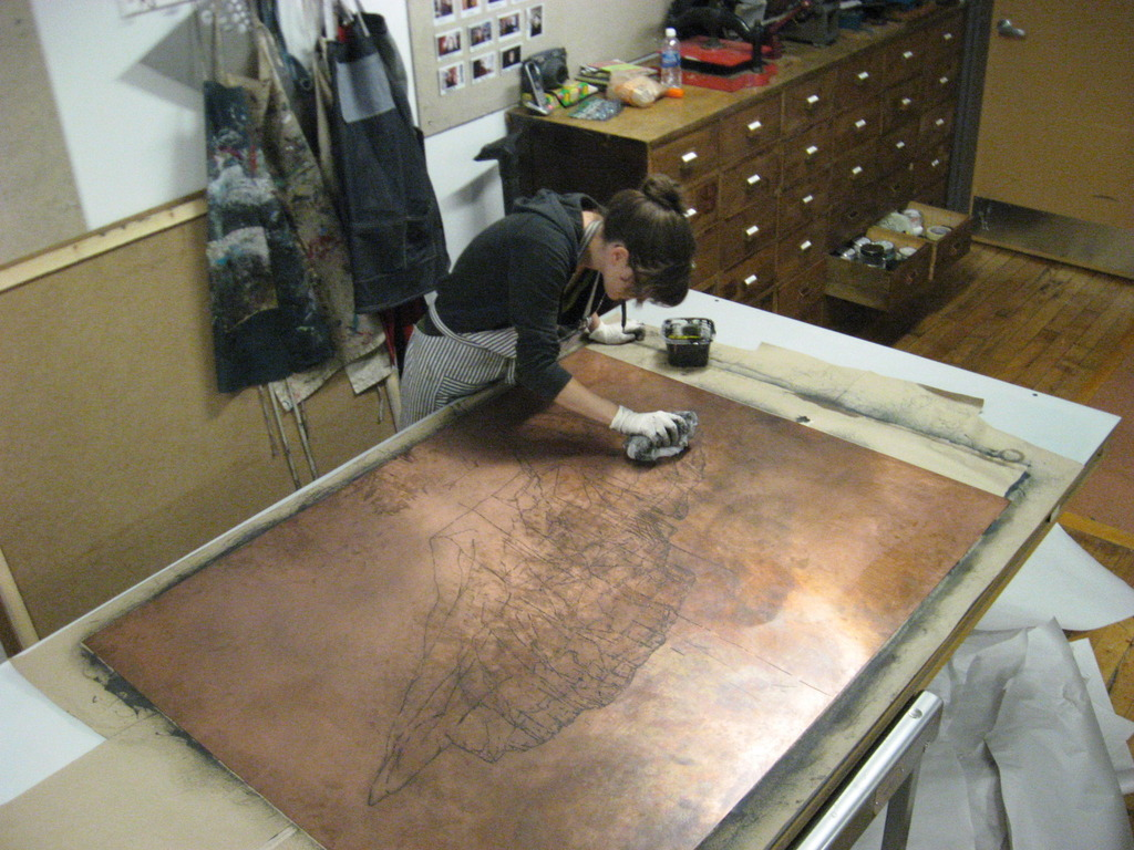 Oversized Etching (Printmaking) Project at AS220's video poster