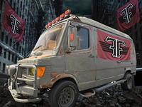 Zombie Apocalypse Vehicle- Freak Flag Rag Wagon