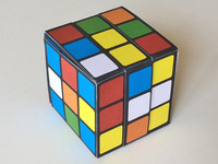Paper Puzzle Box:  the Rubik's cube anyone can solve