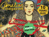 Amelia's Magazine Gold Foil Artists' Book & Gold Leaf Prints