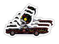 Day of the Dead Batman Calavera Vinyl Stickers