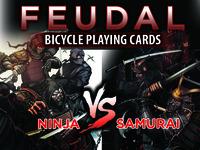 Feudal - Ninja and Samurai USPCC Bicycle® Playing Cards