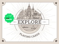 EXPLORE playing cards deck - sit back, play, imagine, travel