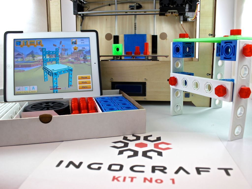 Ingocraft 3d printable construction set and 3d modeling 3d modeling app