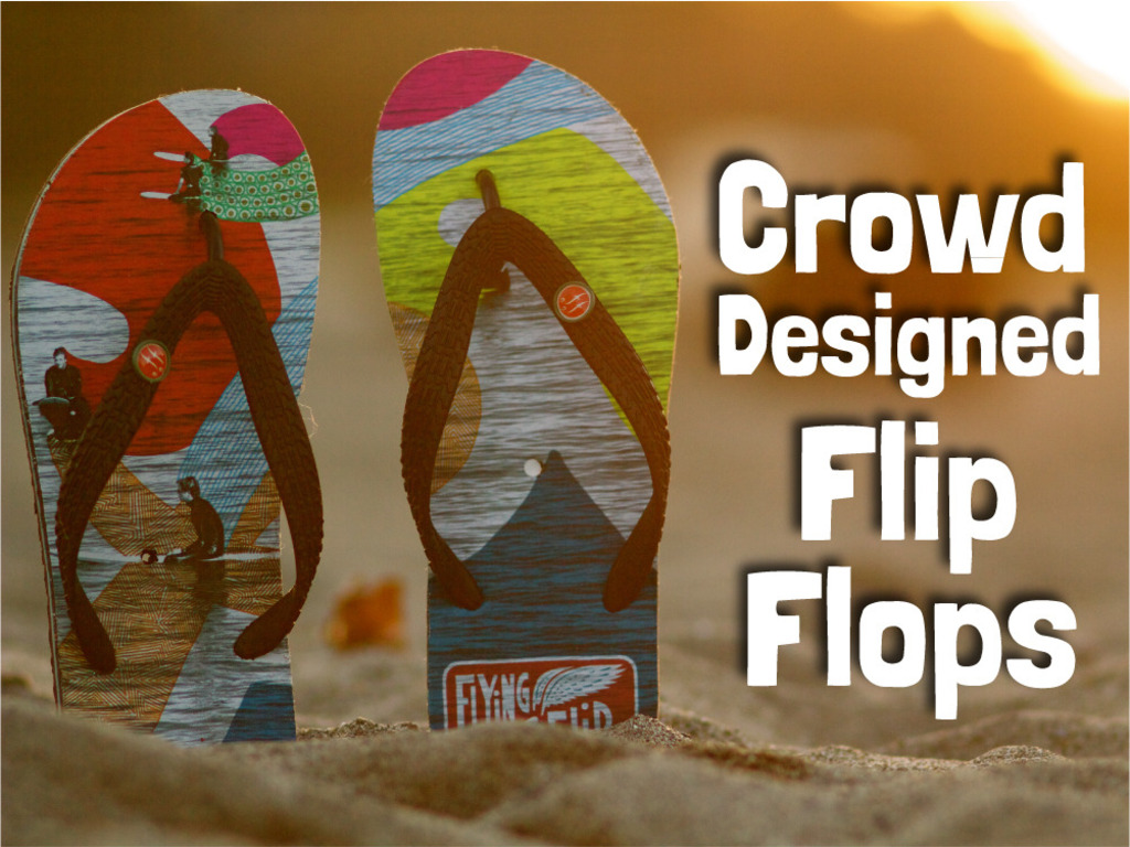 FlyingFlips ~ Awesome FlipFlops with Crowdsourced Designs's video poster