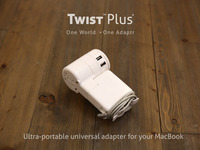 Twist: A ultra-portable universal adapter for your MacBook