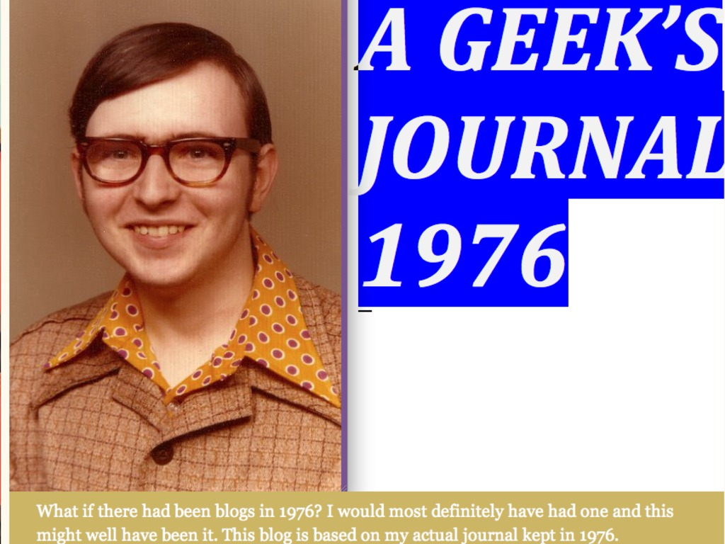 A Geek's Journal 1976--The Book of the Blog's video poster