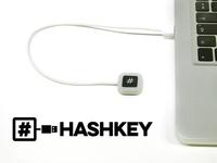 HashKey: a dedicated 1-key keyboard for the hashtag