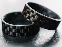 Carbon Fiber Jewelry Rings (Multiple Widths!)