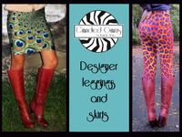 Candied Gams  Leggings Yoga Pants and Skirts by Hannah Stone