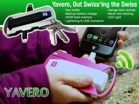 Yavero 8 in 1 Key holder, battery charger, never lost & more