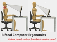FocalPoint Monitor Stand for Bifocal Users