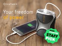 kraftwerk - highly innovative portable power plant