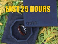 Carbon Fiber Jewelry Rings with Wood Inlays by COTO