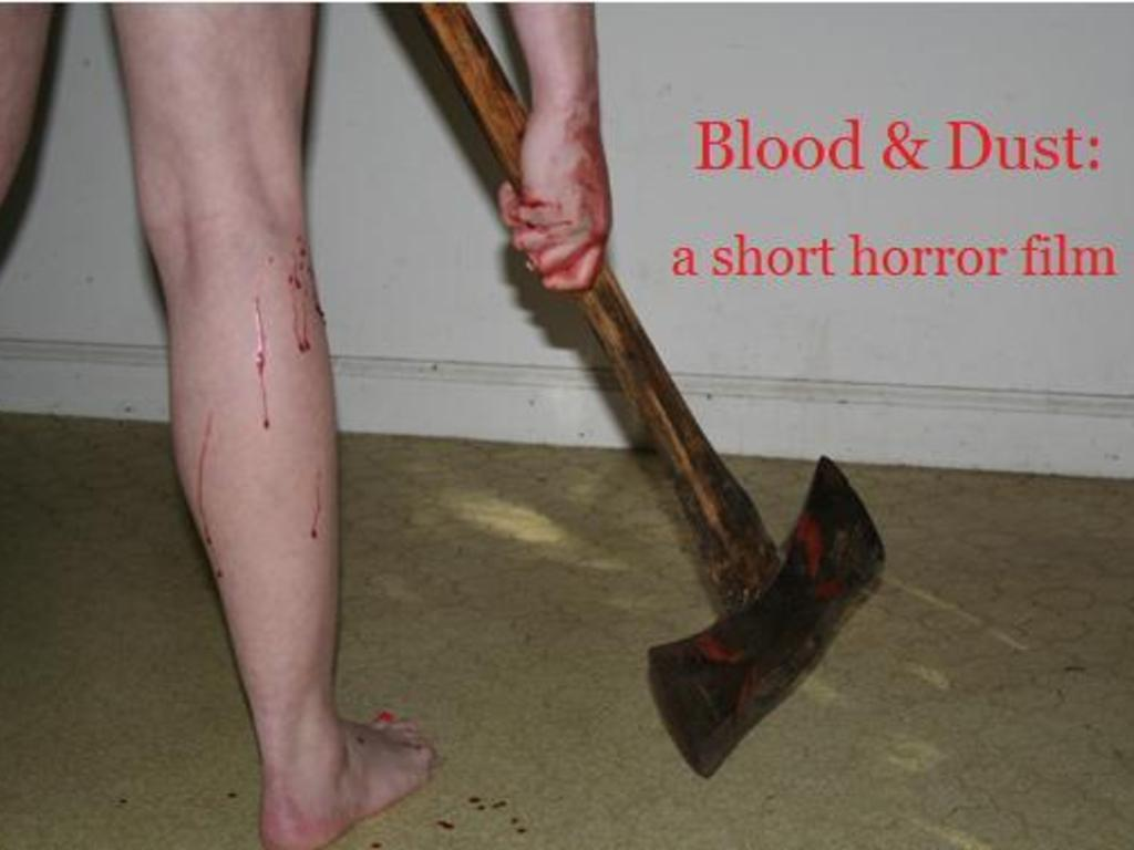 "Be a part of ""Blood & Dust"" - a short horror film's video poster"