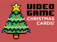 Video Game Christmas Cards