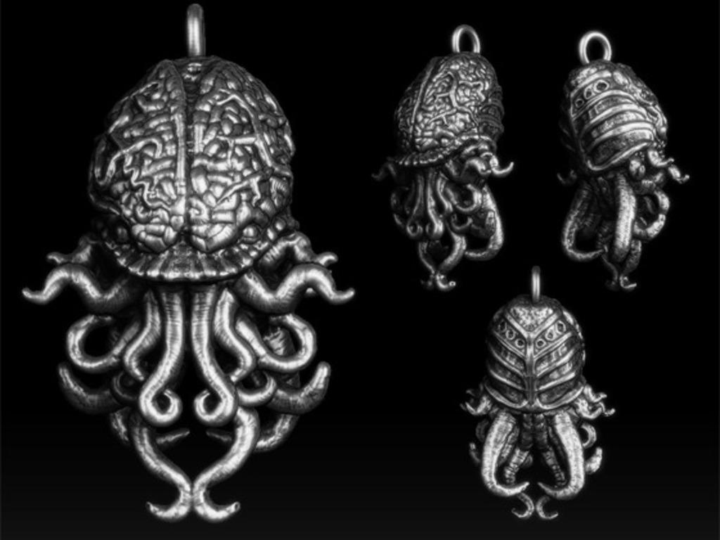 """Call of Cthulhu"" Pendant. Limited 200-piece production's video poster"