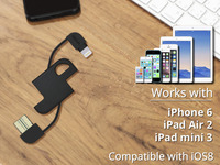 Cord2Go Charge & Sync Lightning Keychain for iPhone & iPad