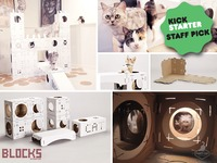 Build your own cat playhouse with BLOCKS - again and again!
