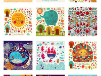 2015 Colorful Illustrated Calendars