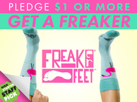 Freaker Feet! 127 USA made sock designs!
