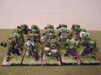 Orcs with spear and shield 28mm