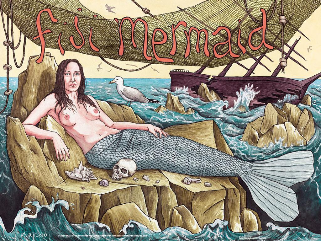 """""""Fiji Mermaid"""" film project's video poster"""