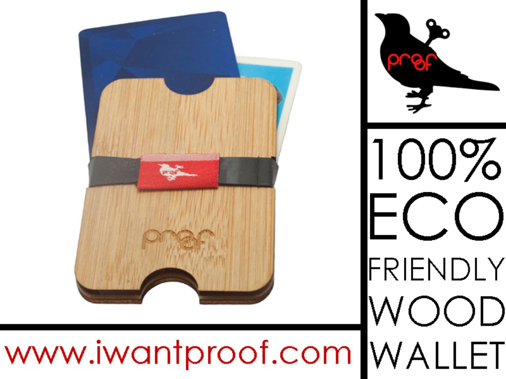 Wood Wallet / Money clip: 100% eco-friendly By PROOF's video poster