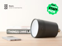 Beam: The smart projector that fits in any light socket