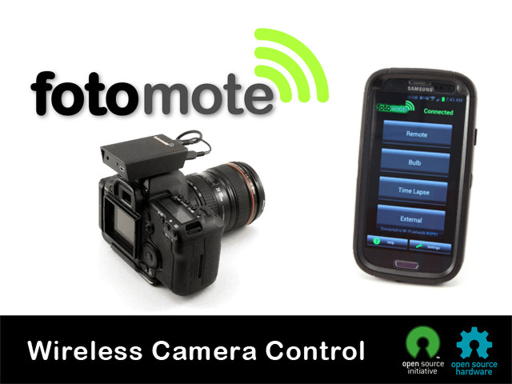 fotomote: Remote Control of Your DSLR Made Easy and Wireless's video poster