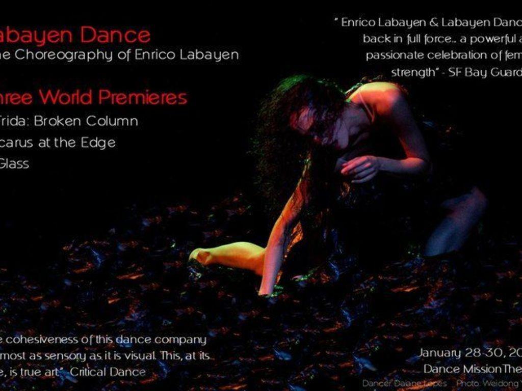 Labayen Dance/SF presents three world premieres, winter 2011's video poster