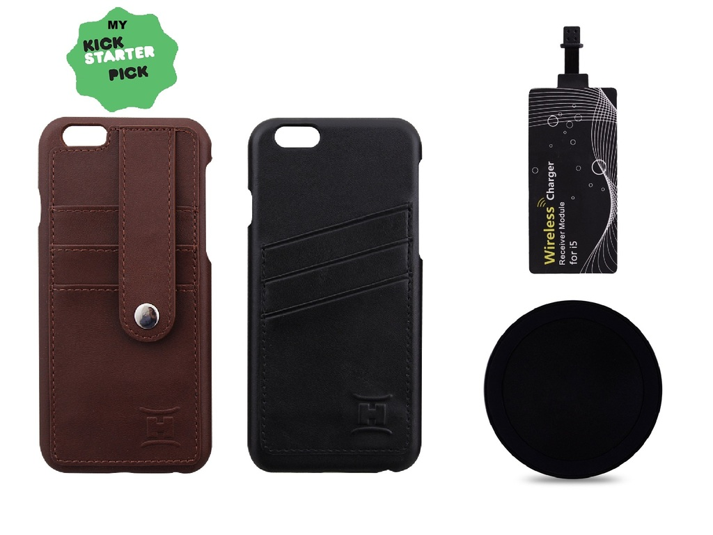 leather handicase with qi charger iphone 6 6 plus case by brc kickstarter. Black Bedroom Furniture Sets. Home Design Ideas