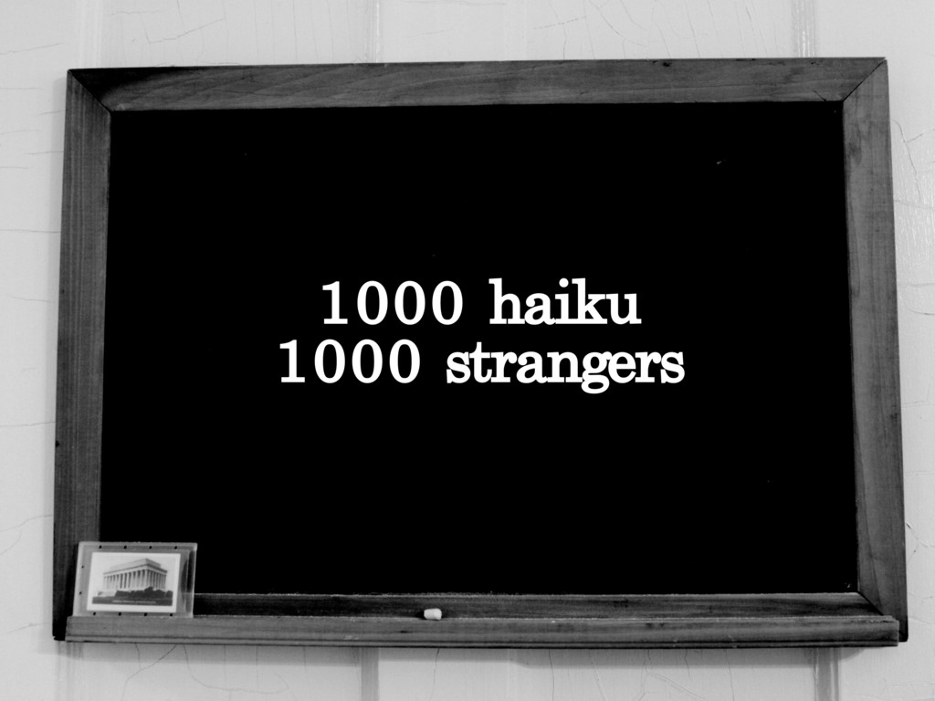 1000 Haiku, 1000 Strangers's video poster