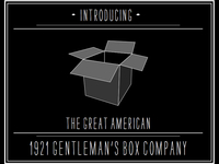 THE GREAT AMERICAN 1921 GENTLEMAN'S BOX COMPANY