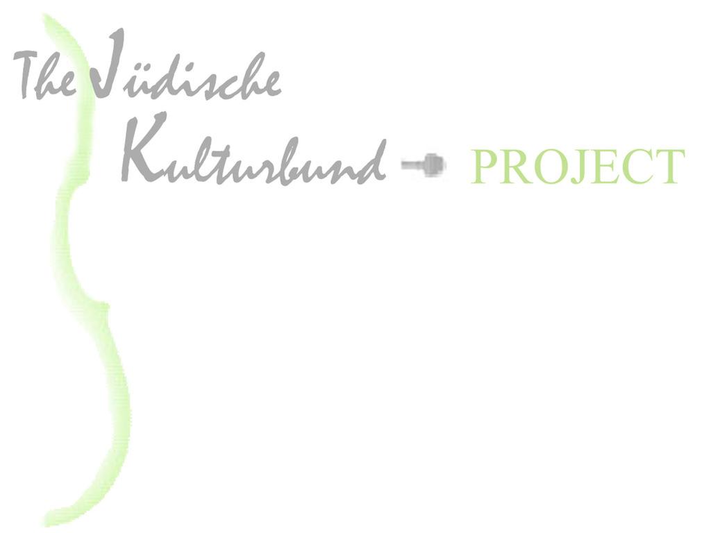 The Jüdische Kulturbund Project's video poster