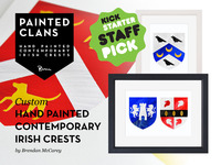 Painted Clans - Hand painted contemporary Irish crests