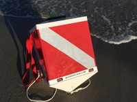 """Goumba Dive Flag: """"Your Friend in the Water"""""""