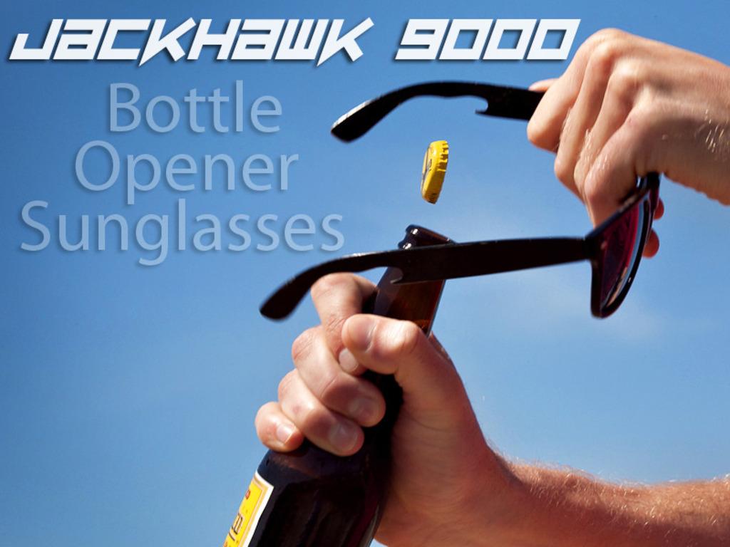 JackHawk 9000 - Titanium Bottle Opener Sunglasses's video poster